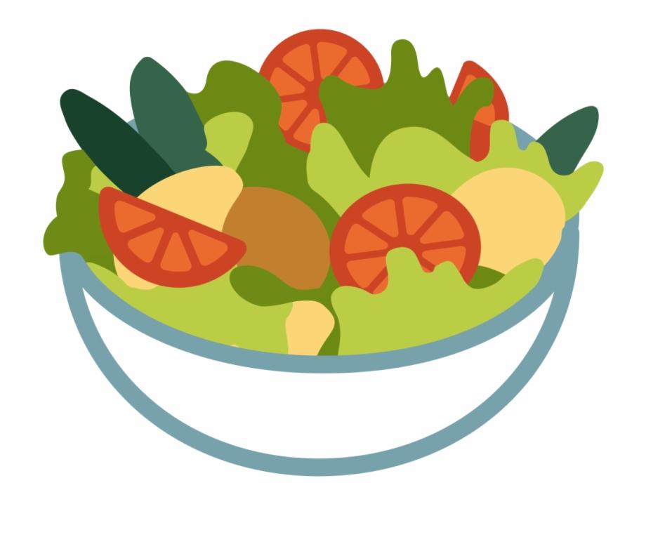 clip art transparent download File emoji u f. Salad clipart