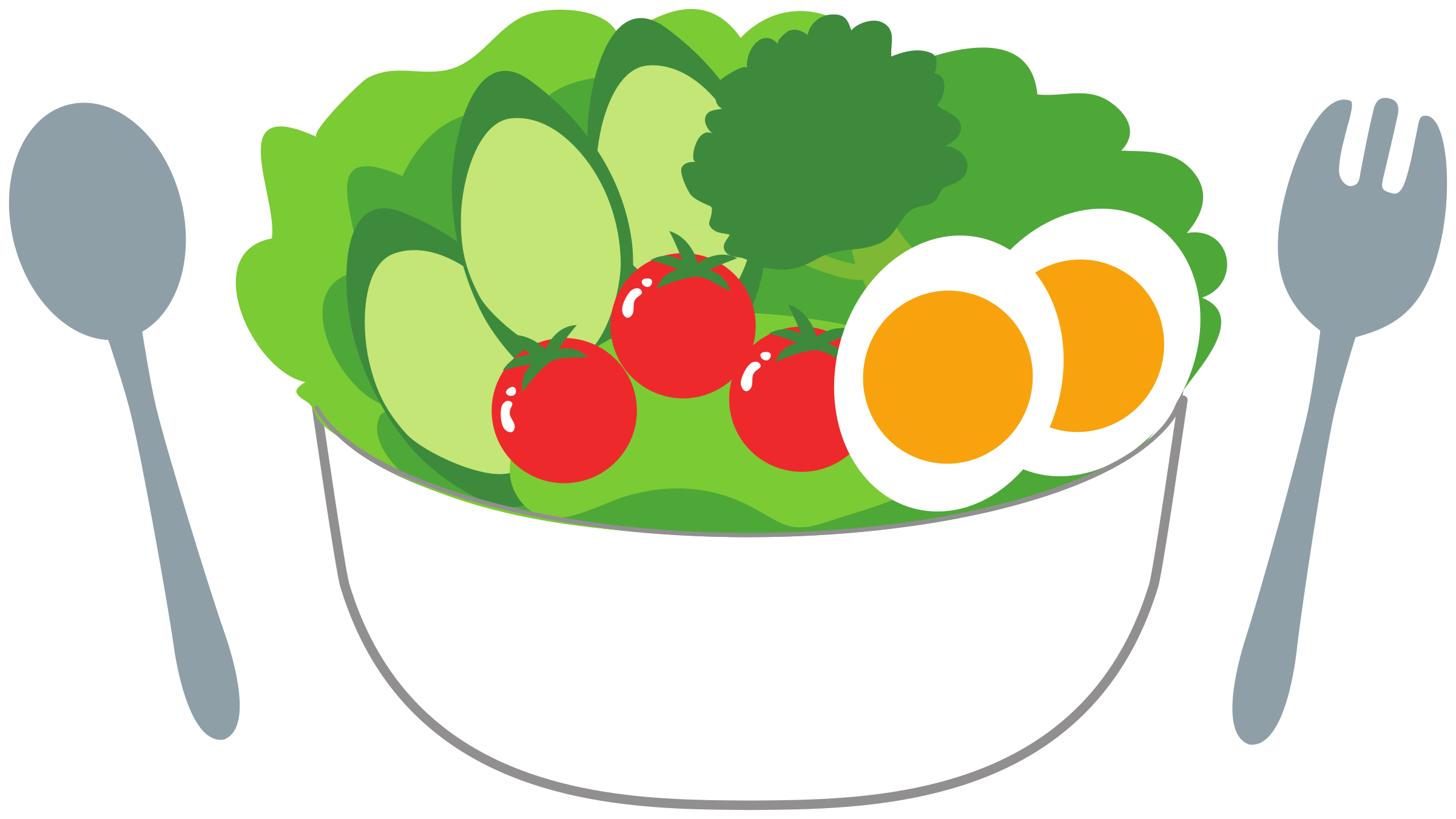 svg transparent library Salad clipart. With fresh tomatoes cucumber