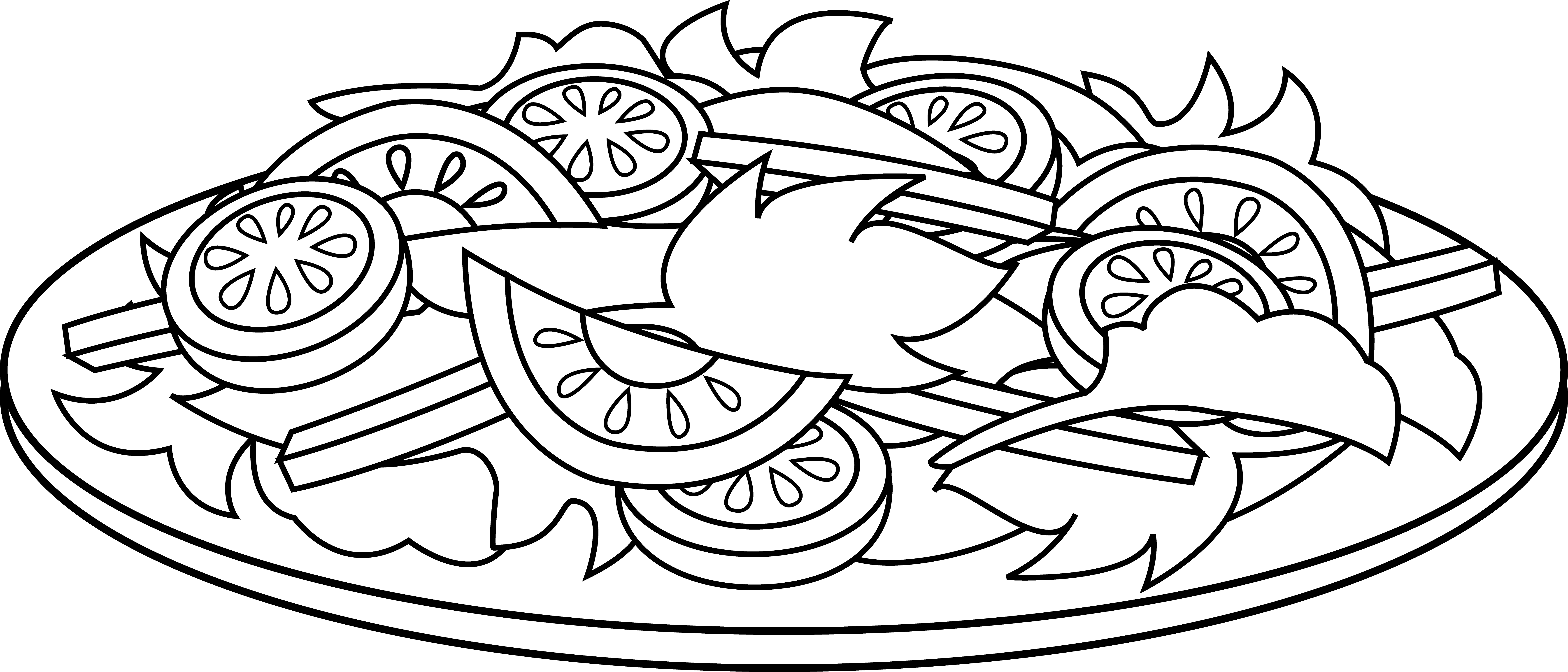 picture black and white stock Salad vector. Clip art free clipart