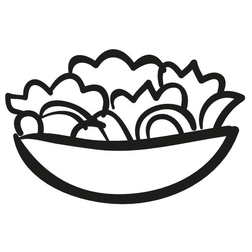 clip art free library  collection of vegetable. Salad clipart black and white