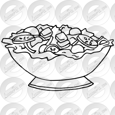 clip black and white library Salad clipart black and white. Outline for classroom therapy