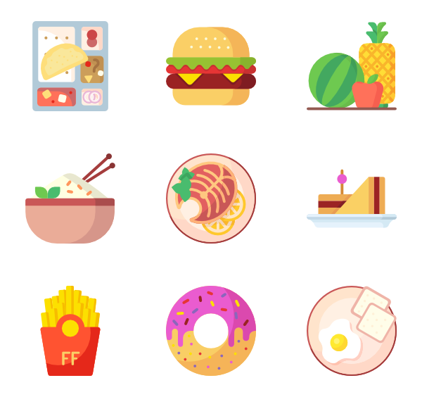 graphic freeuse stock Icons free food. Salad vector