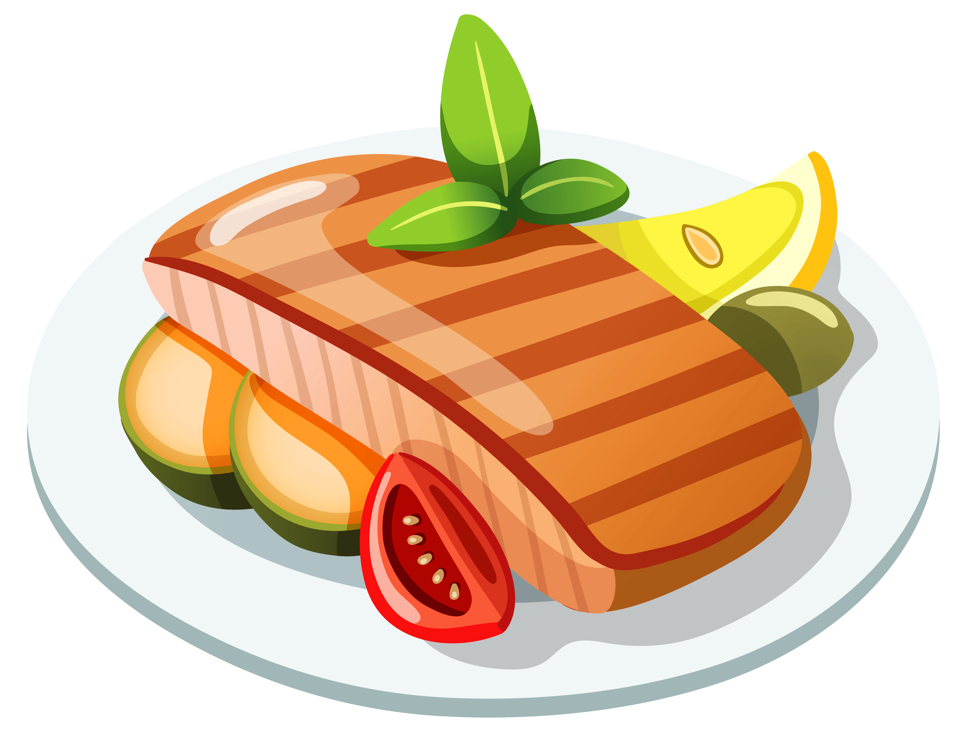transparent stock Grilled clipart grilled food. Cooked salmon cool smoked
