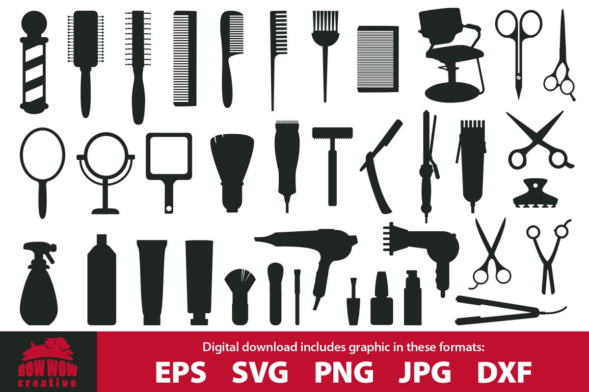 png free Hair bundle svg eps. Salon clipart.