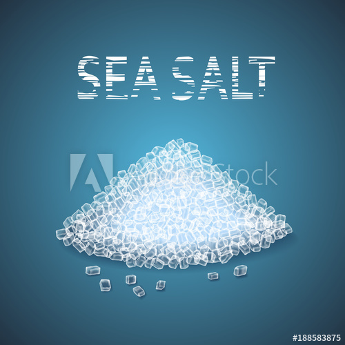 picture freeuse Heap of sea crystals. Salt vector.