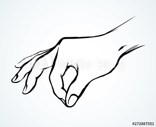 clipart free library Salt vector. A hand is holding.
