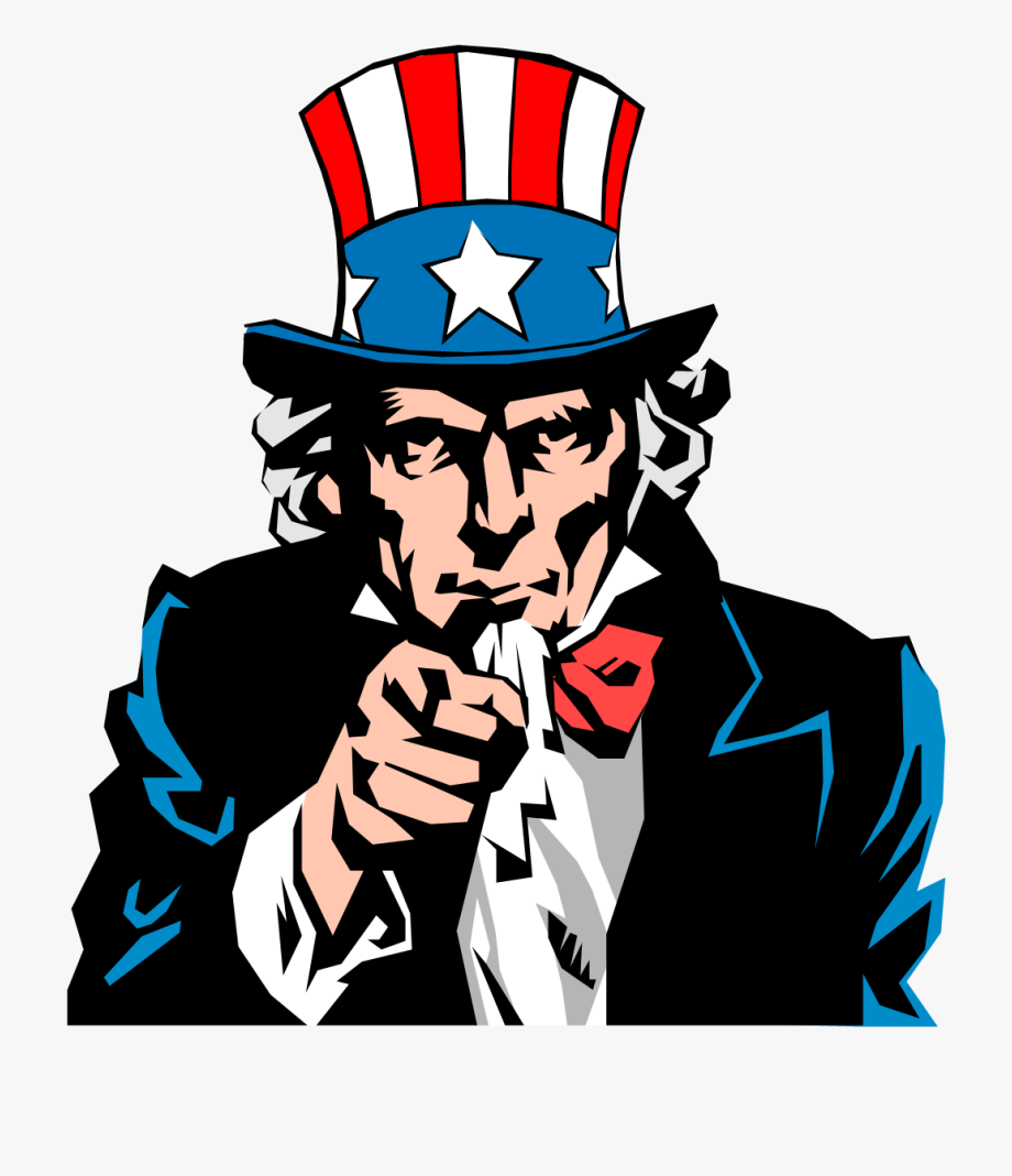 clipart freeuse stock You clipart uncle sam. Money american we want.