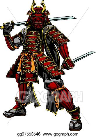 picture free stock Eps illustration japanese warrior. Samurai clipart.