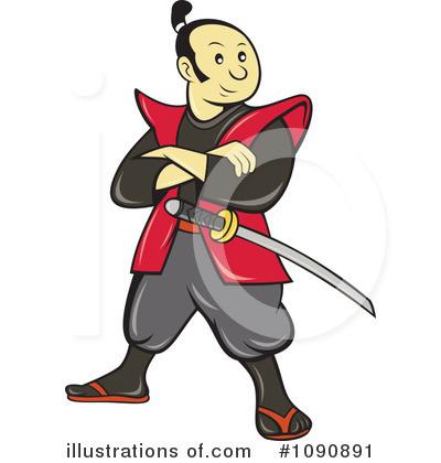vector library stock Illustration by patrimonio . Samurai clipart.