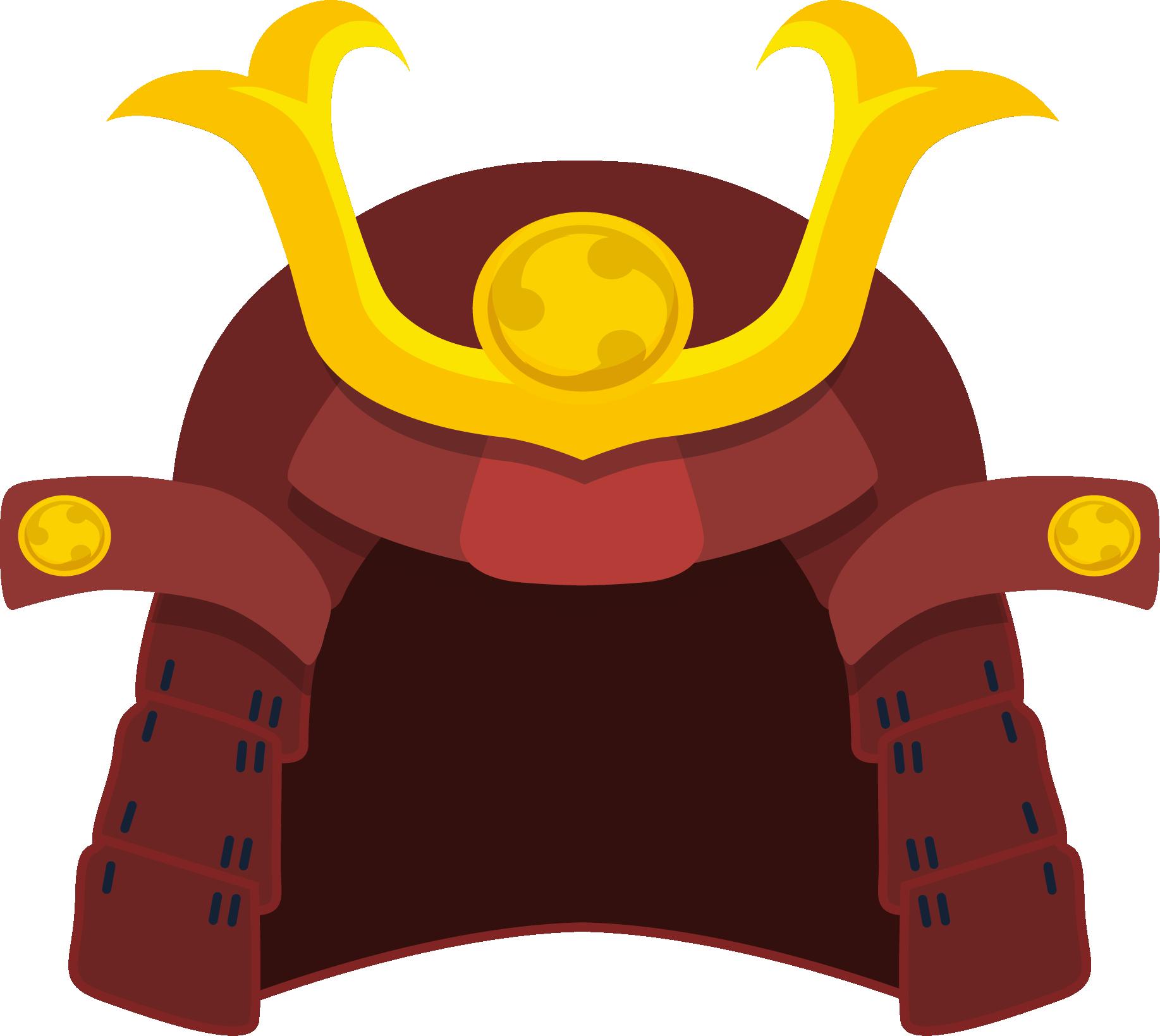 banner library download Samurai Helmet Kabuto Clip art