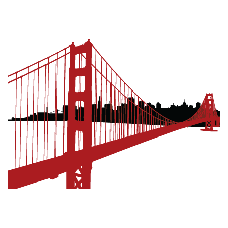 picture royalty free download Simple Golden Gate Bridge PNG Transparent Simple Golden Gate Bridge