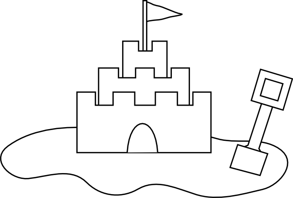 svg freeuse library Sand Castle Outline Clip Art at Clker