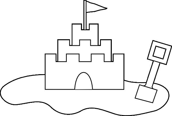 svg freeuse library Sand Castle Outline Clip Art at Clker