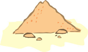 vector library Sand Pile Clipart