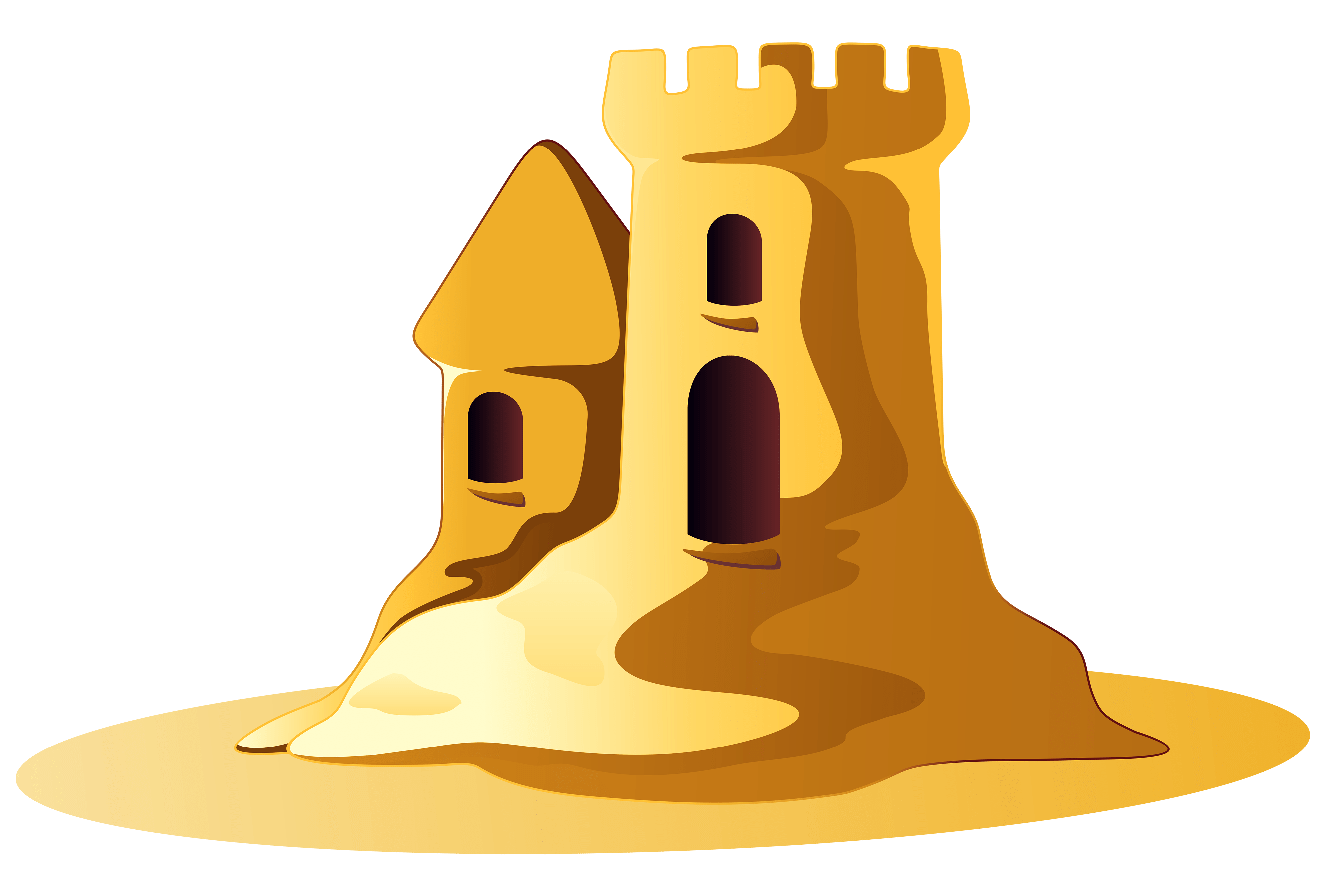 vector royalty free Small sand castle transparent. Sandcastle clipart.
