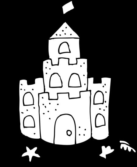 clip art freeuse stock Sand Castle Printable Clipart