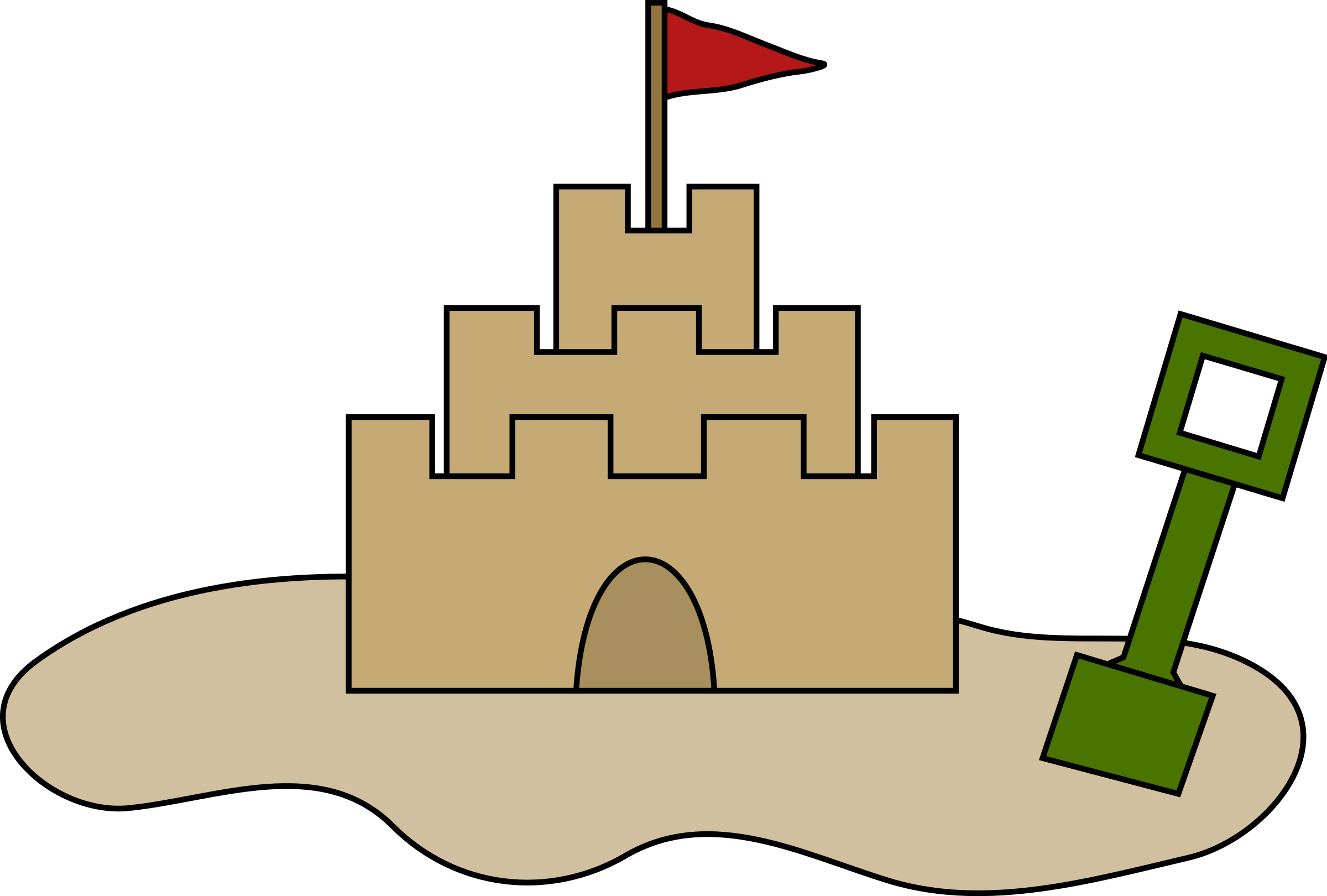 graphic freeuse download Sand Castle Clipart sable