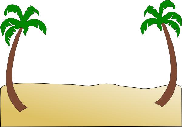 vector free Sand . Beach border clipart