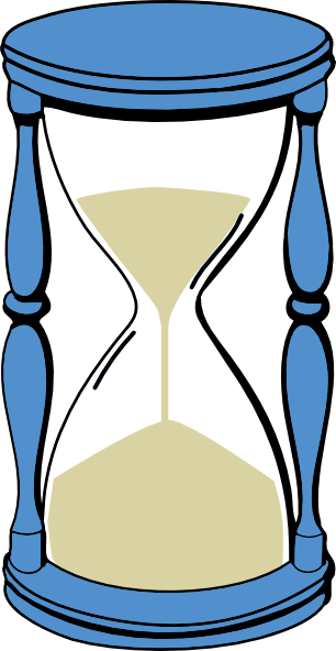 vector library stock Sand Timer Clipart