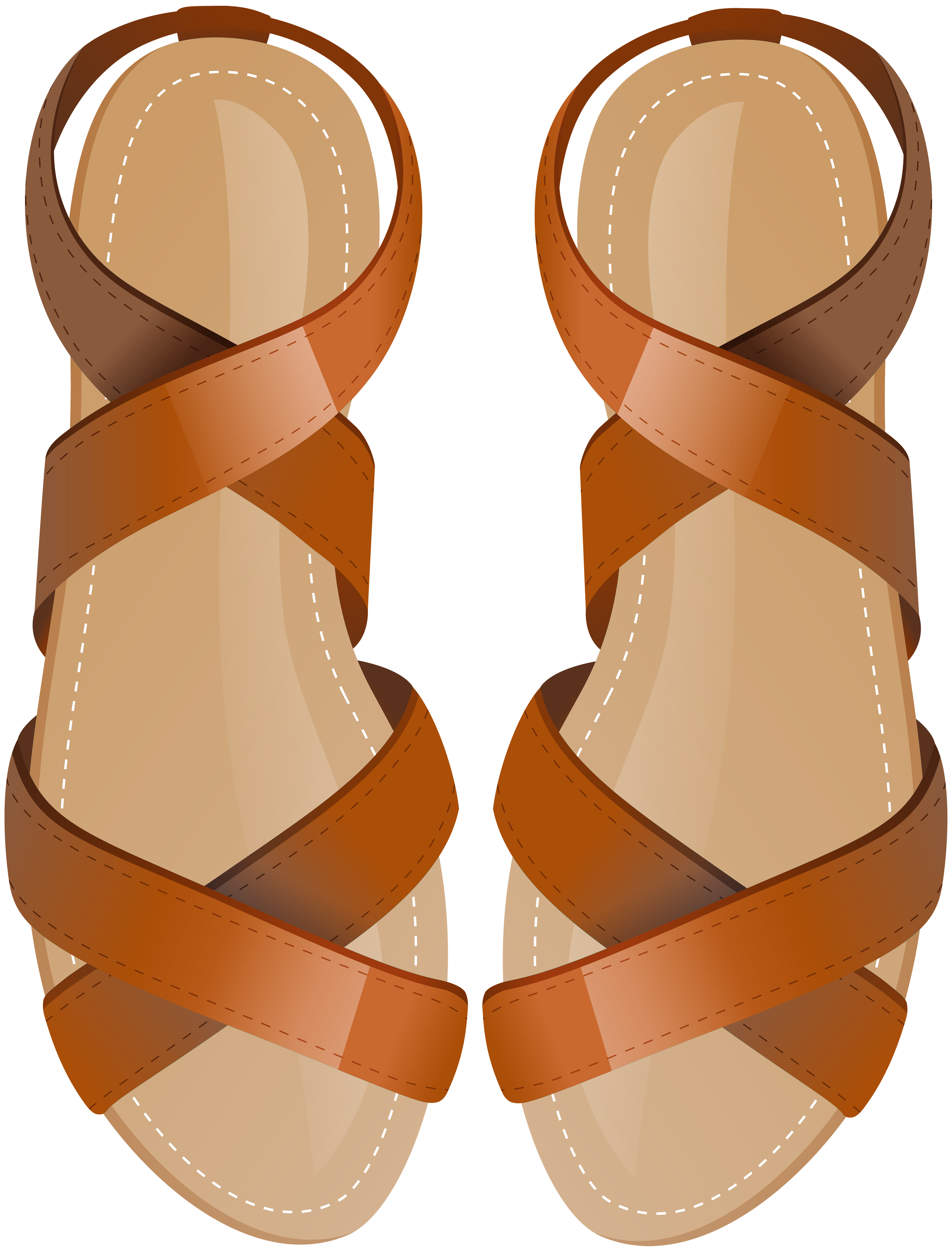 banner royalty free library Sandals clipart. Brown png clip art.