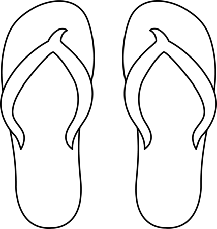 image free library flip flop coloring pages