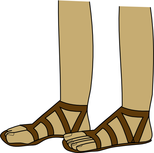 graphic black and white library Feet In Sandals Clipart