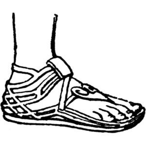 svg download Clip art library . Sandals clipart greek sandal