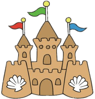 banner download Sandcastle clipart. Sand castle transparent png.