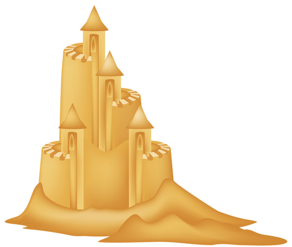 freeuse library Sand monster free on. Sandcastle clipart.