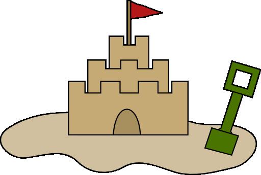 clip art library Sand Castle Clipart