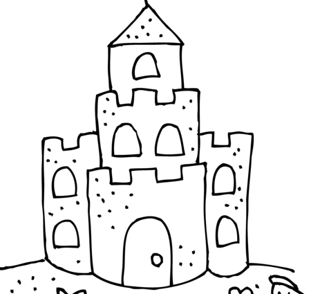 black and white download printable sandcastle coloring pages cute sand castle coloring page