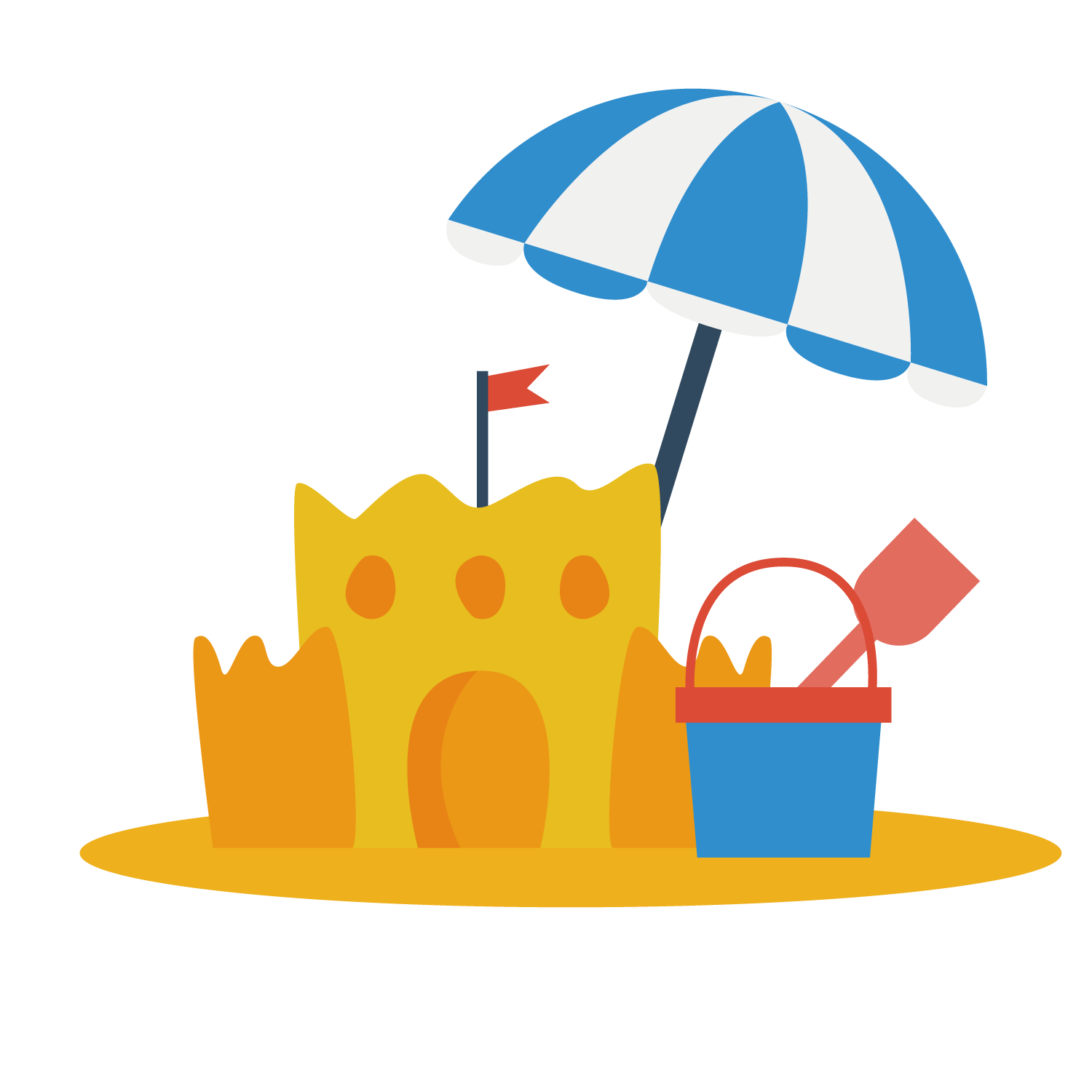 banner Vector candy castle. Sand art and play