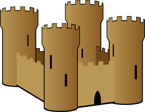 jpg black and white library Sandcastle Clip Art at Clker