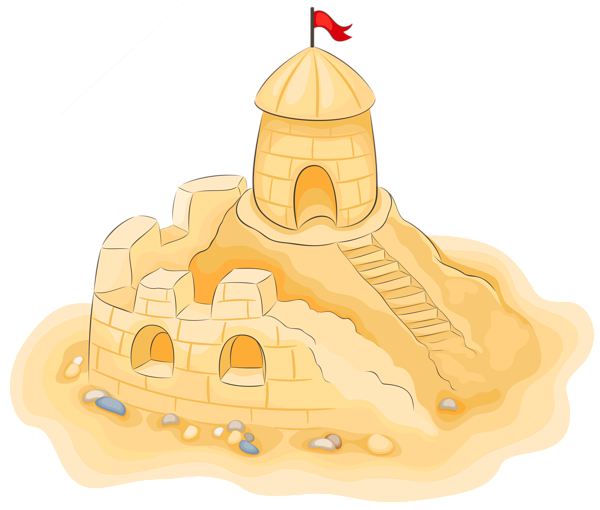 jpg royalty free Sand Castle clipart underwater castle
