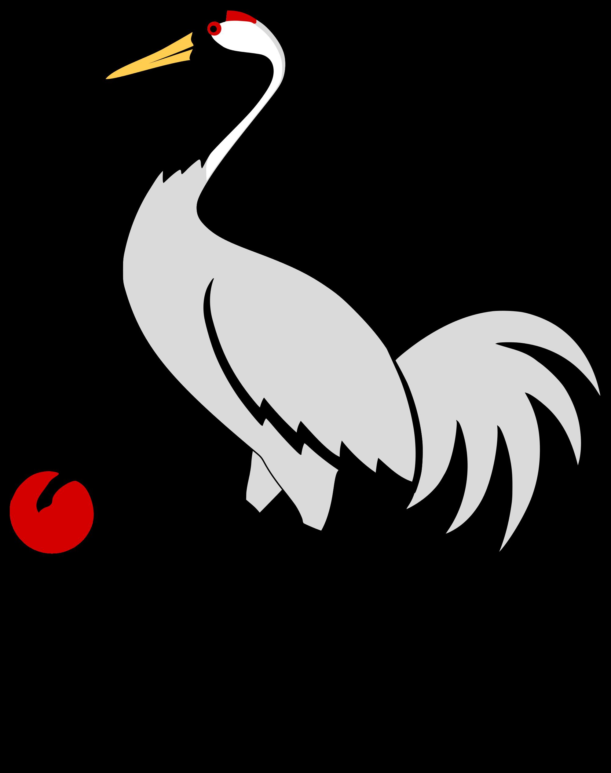 banner black and white stock birds svg crane #90200998