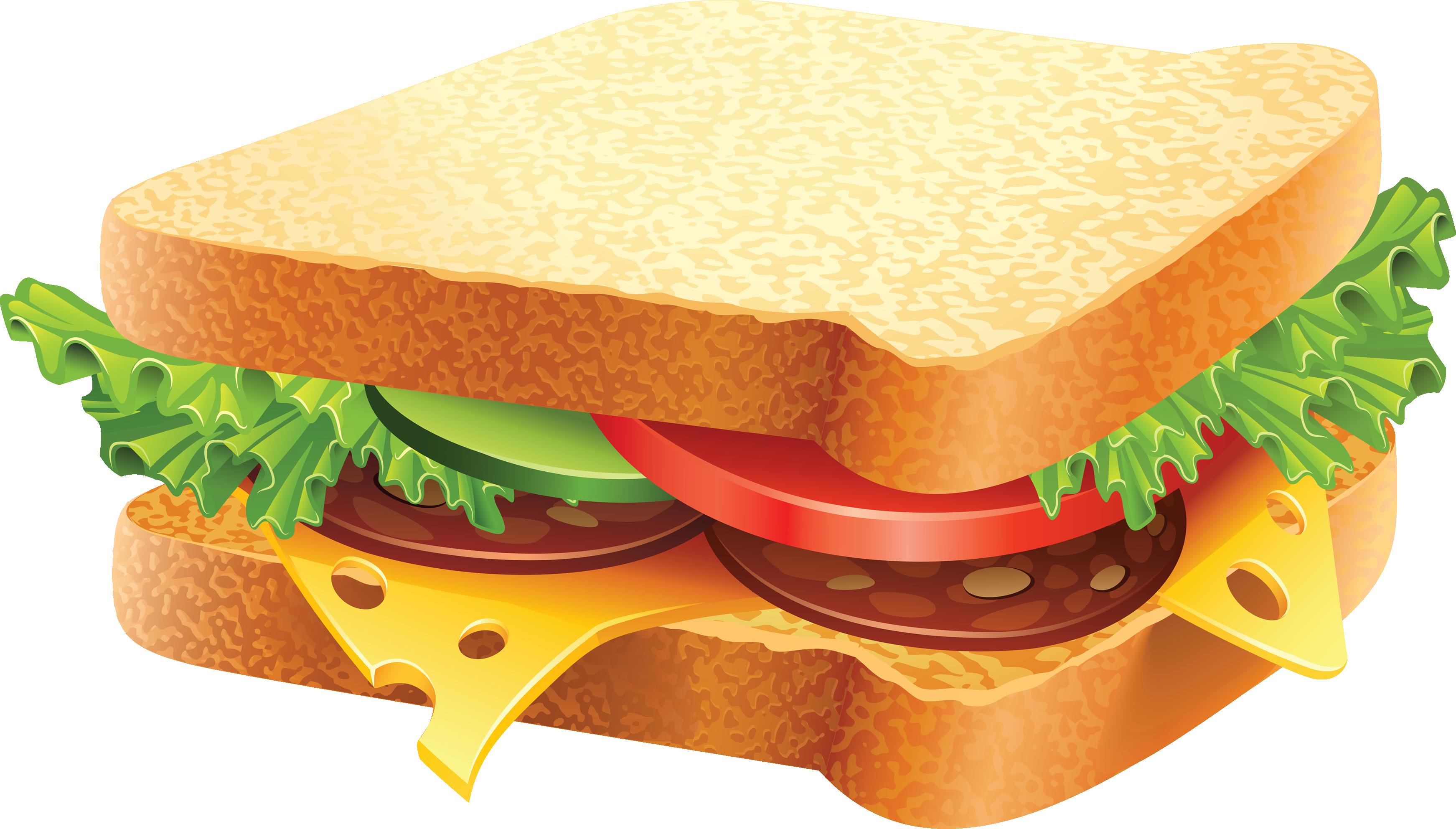 clip black and white Sandwich clipart. Clip art free panda.