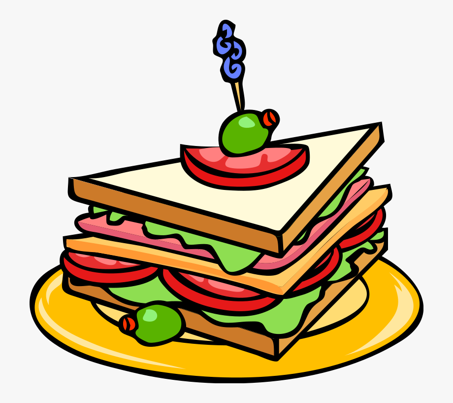 graphic free Piece clipart sandwich. Food clip art transparent