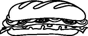 freeuse Sandwich clipart black and white. Clip art panda free