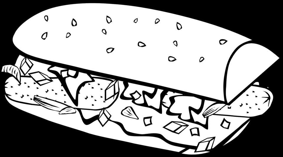 clip art stock Sandwich clipart black and white. Public domain clip art