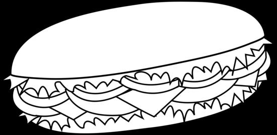 clip download . Sandwich clipart black and white