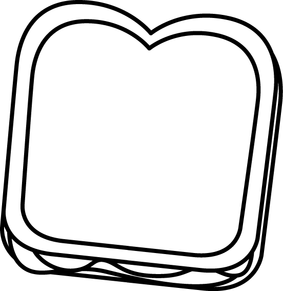 clipart freeuse download Black and White Peanut Butter and Jelly Sandwich Clip Art