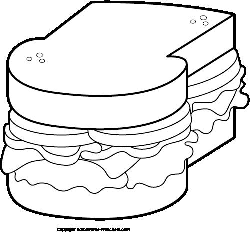 clip free Free picnic click to. Sandwich clipart black and white