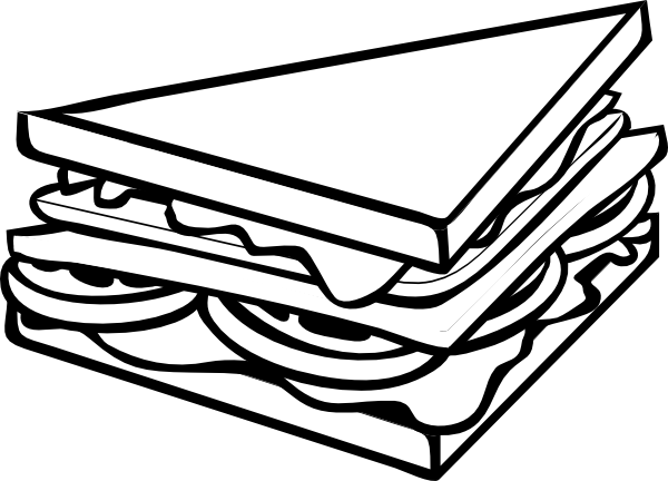 clipart free stock Kid cliparting com. Sandwich clipart black and white