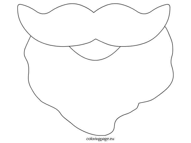 png black and white download Free cliparts download clip. Santa beard clipart