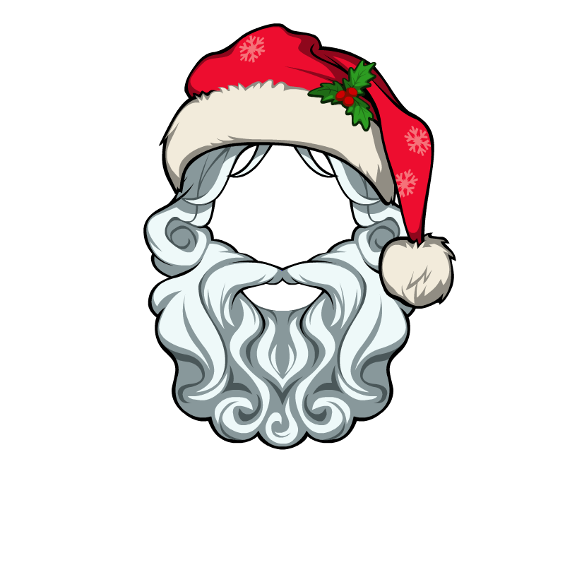 vector library download Santa beard clipart. Image hat male png