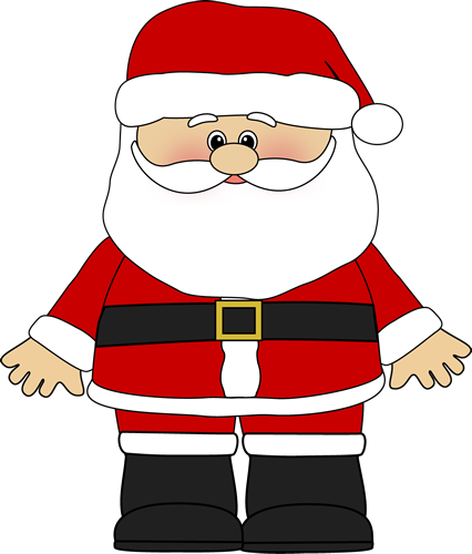 clipart stock Santa Claus is coming to town
