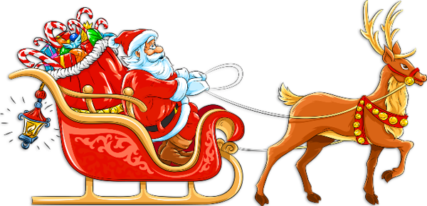 banner royalty free download Santa Claus Sleigh Clipart