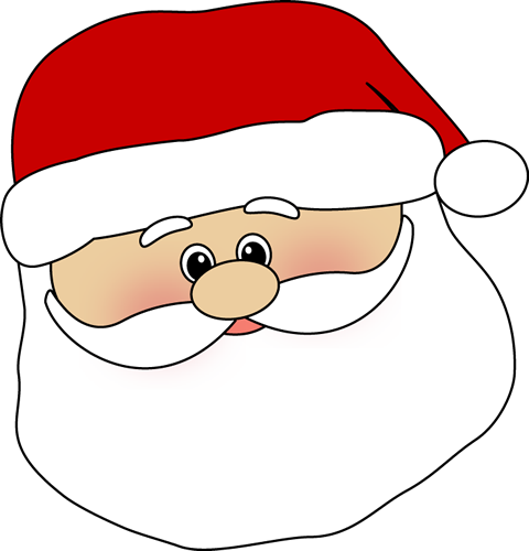clip art royalty free stock Cute Santa Face