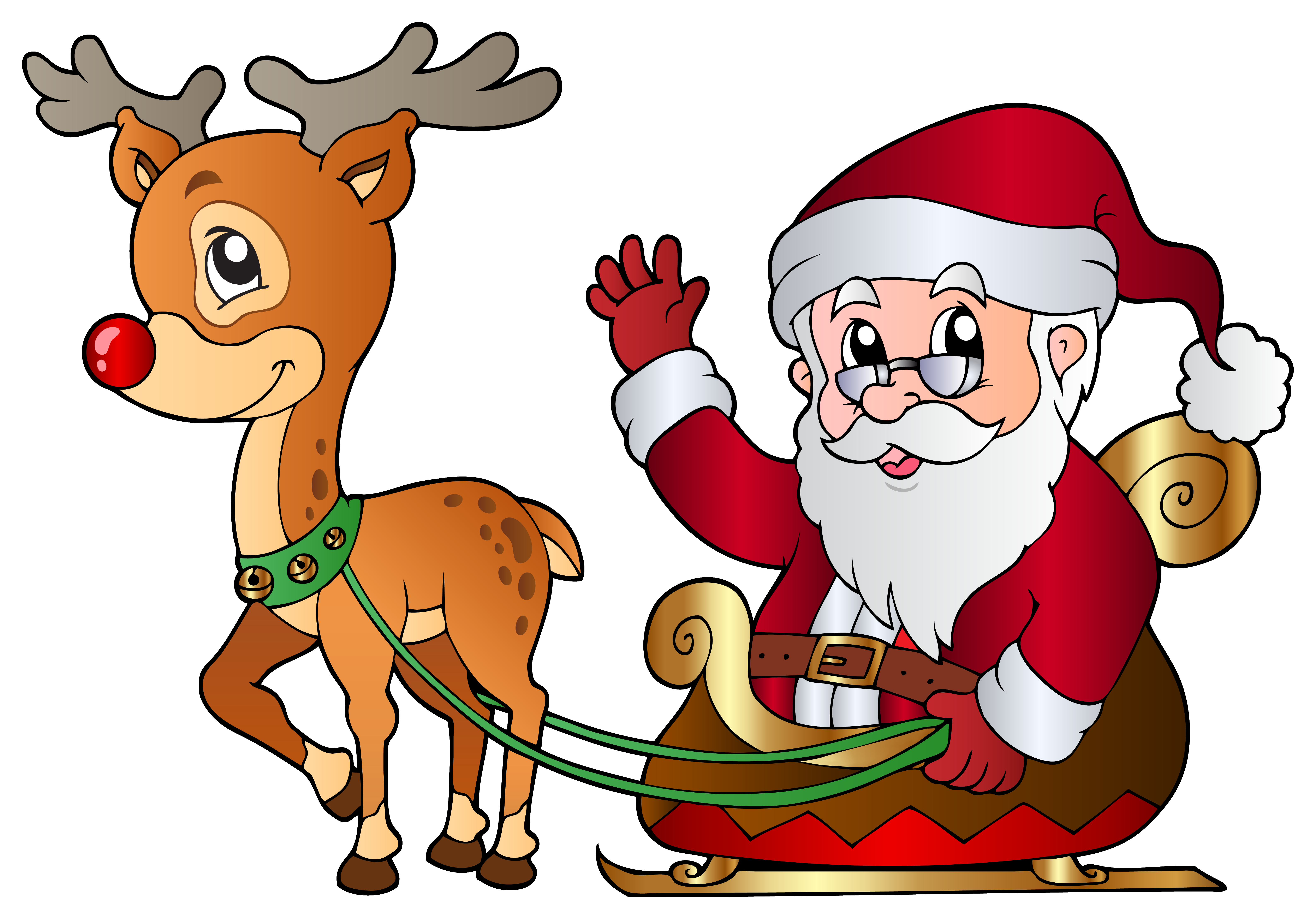 freeuse download And rudolph png image. Santa clipart.