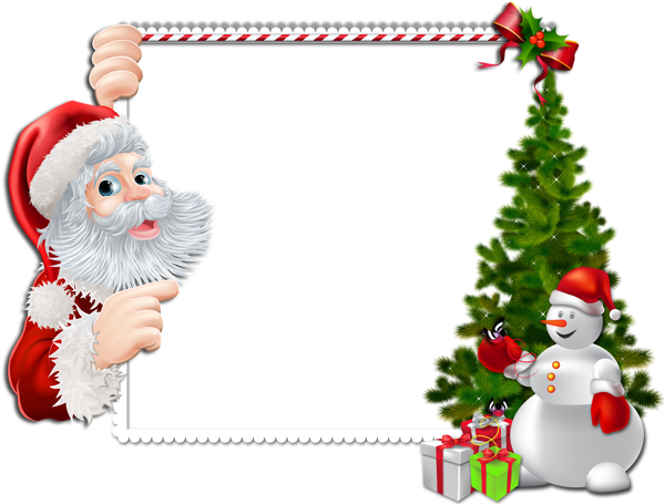 picture royalty free download Large png frame with. Free christmas clipart borders and frames